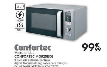 Oferta de Microondas Confortec por 99,99€