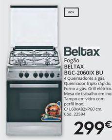 Oferta de Fogão a gás Beltax por 299€