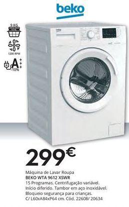 Oferta de Máquina lavar roupa beko por 299€