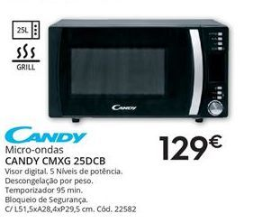 Oferta de Microondas Candy por 129€
