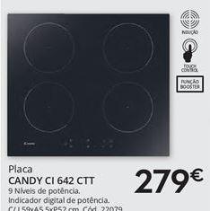 Oferta de Placa de cozinha Candy por 279€