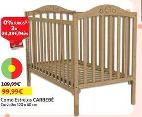 Oferta de Cama estrelas Carbebé por 99,99€