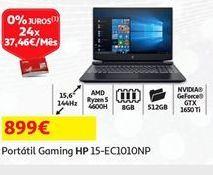 Oferta de Portátil gaming HP por 899€