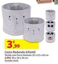 Oferta de Cesto redondo infantil por 3,99€