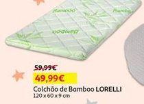 Oferta de Colchão de bamboo Lorelli por 49,99€