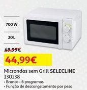 Oferta de Microondas sem grill Selecline por 44,99€