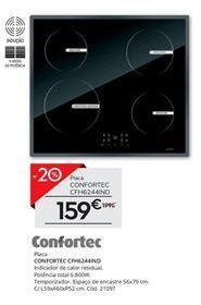 Oferta de Placa de cozinha elétrica Confortec por 159€