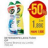 Oferta de Detergente lava-tudo Cif por 1,89€