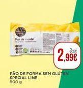 Oferta de Pão de forma sem glúten Special Line por 2,99€