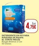 Oferta de Detergente em pó para máquina de roupa El Corte Inglés por 4,75€