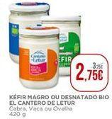 Oferta de Kéfir magro ou desnatado bio El Cantero de Letur por 2,75€