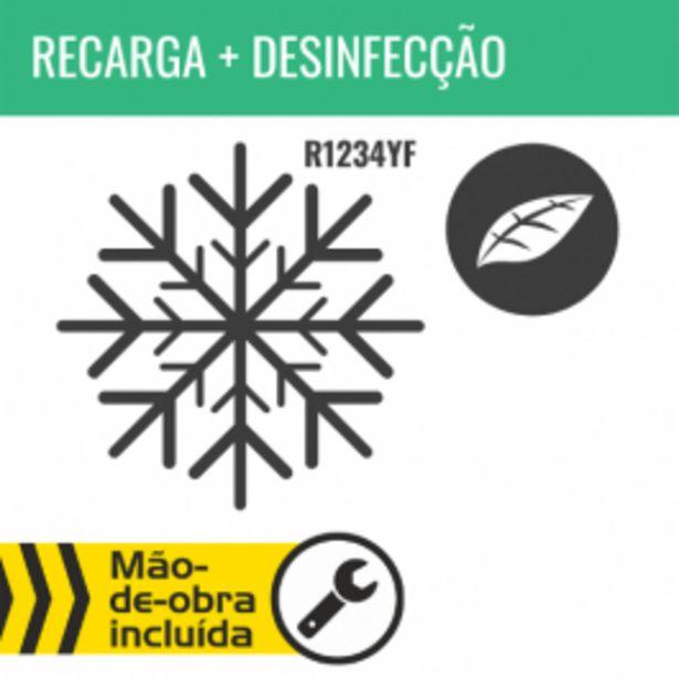 Oferta de RECARGA DE AR CONDICIONADO R1234YF + DESINFECÇÃO DO HABITÁCULO por 149,95€