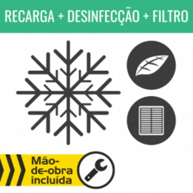 Oferta de RECARGA DE AR CONDICIONADO R134A + DESINFECÇÃO DO HABITÁCULO + FILTRO DE HABITÁCULO por 79,95€