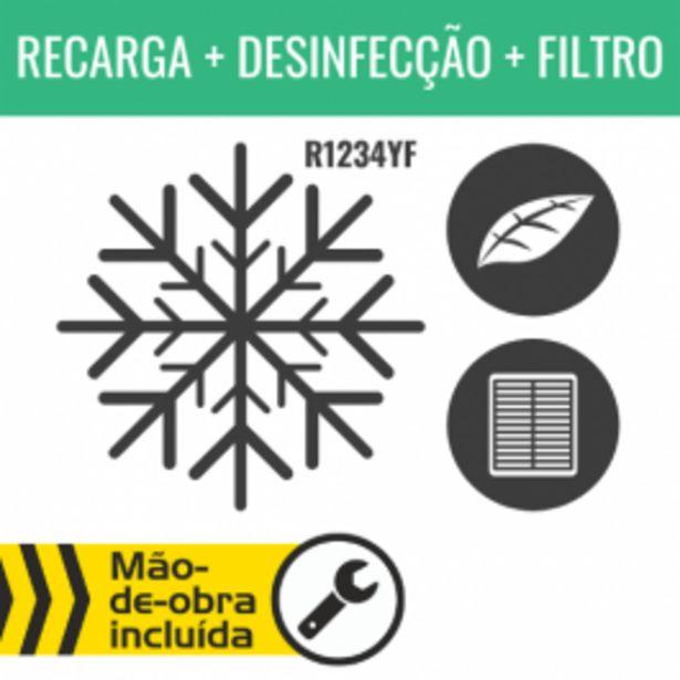 Oferta de RECARGA DE AR CONDICIONADO R1234YF + DESINFECÇÃO DO HABITÁCULO + FILTRO DE HABITÁCULO por 159,95€