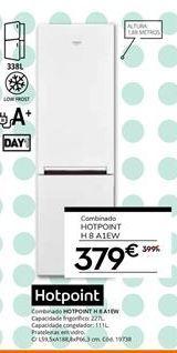 Oferta de Frigorífico combinada Hotpoint por 379€