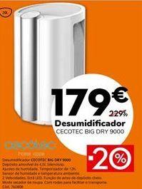 Oferta de Desumidificador por 179€