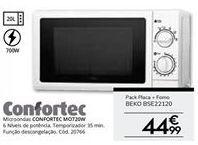 Oferta de Microondas Confortec por 44,99€