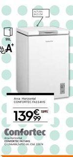Oferta de Frigorífico Confortec por 139,99€