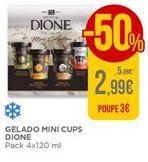 Oferta de Gelado mini cups Dione por 2,99€