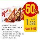 Oferta de Barritas de cereais Kellogg's por 1,59€