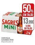 Oferta de Cerveja Sagres Mini por 6,99€