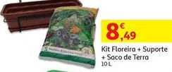 Oferta de Kit Floreira + Suporte + Saco de Terra por 8,49€