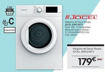 Oferta de Secadora Jocel por 179€
