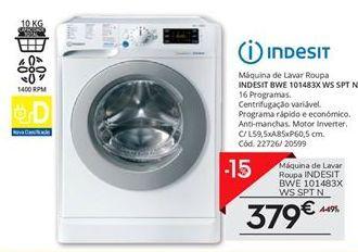 Oferta de Máquina lavar roupa Indesit por 379€