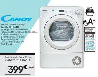 Oferta de Secadora Candy por 399€
