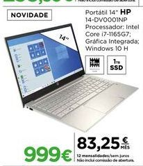 Oferta de Computador portátil HP por 999€