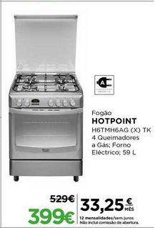 Oferta de Fogão Hotpoint por 399€