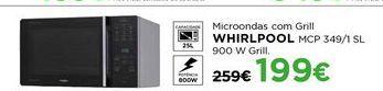 Oferta de Microondas com grill Whirlpool por 199€