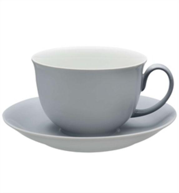 Oferta de Colours - Chávena Pequeno Almoço c/ Pires Cinzenta por 23,2€