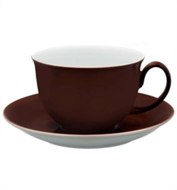 Oferta de Colours - Chávena Pequeno Almoço c/ Pires Castanha por 23,5€
