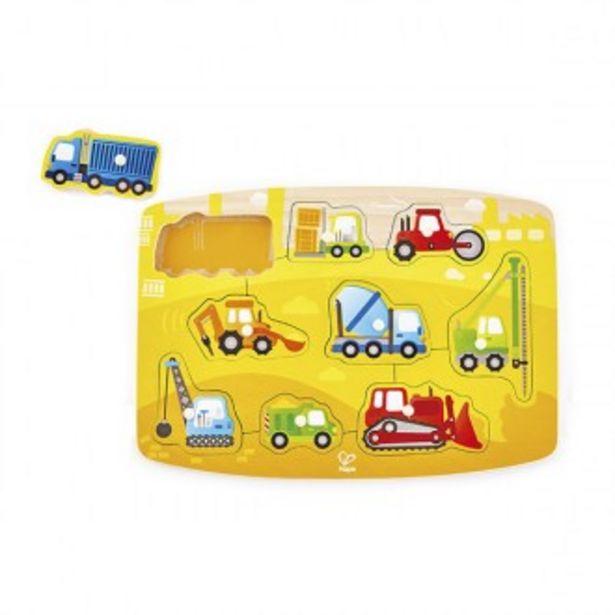 Oferta de Puzzle de encaixar veículos de construção por 9,66€