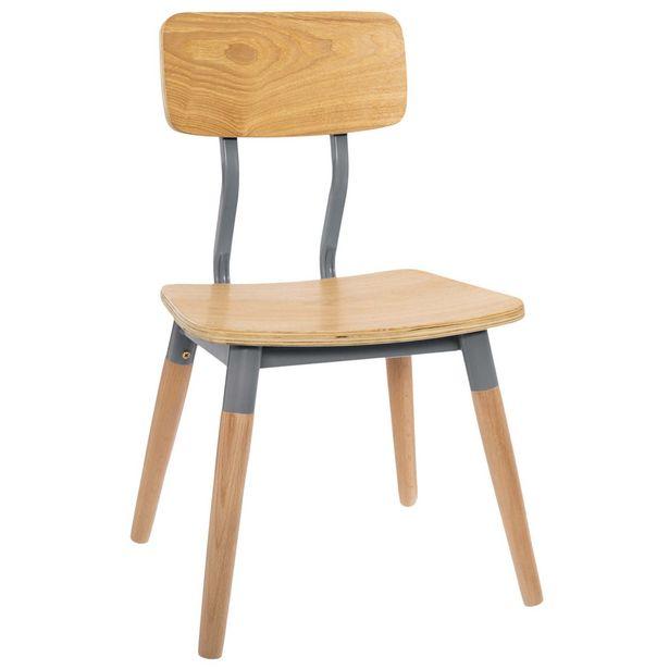 Oferta de Cadeira Infantil Retro Cinza por 23,99€