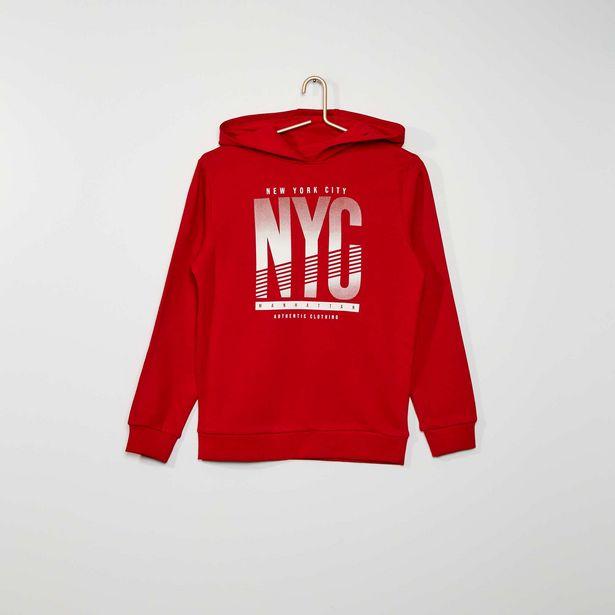 Oferta de Sweatshirt estampada com capuz por 9€