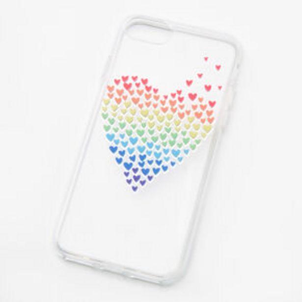Oferta de Rainbow Hearts Clear Phone Case - Fits iPhone® 6/7/8/SE por 2,25€