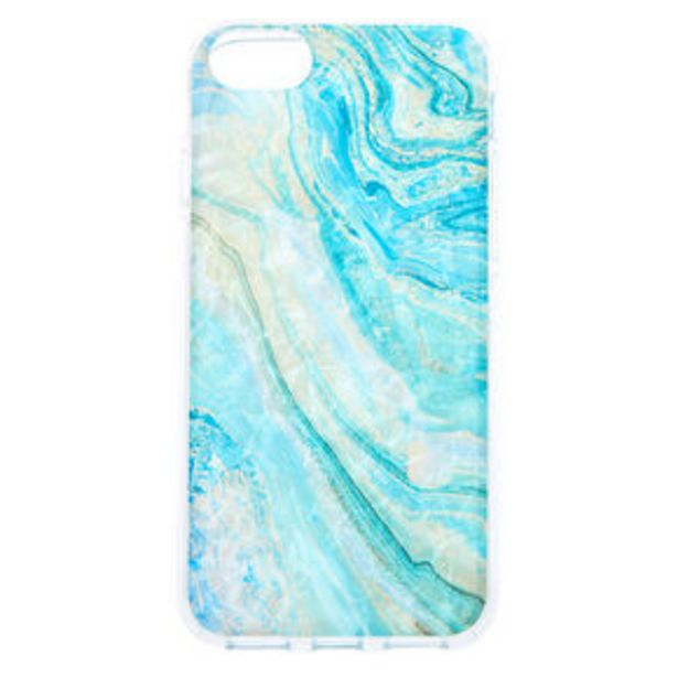 Oferta de Turquoise Marble Shell Phone Case - Fits iPhone 6/7/8/SE por 2,25€