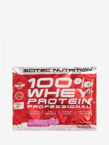 Oferta de 100% Whey Protein Professional de Morango e Chocolate Branco Scitec Nutrition por 0,69€