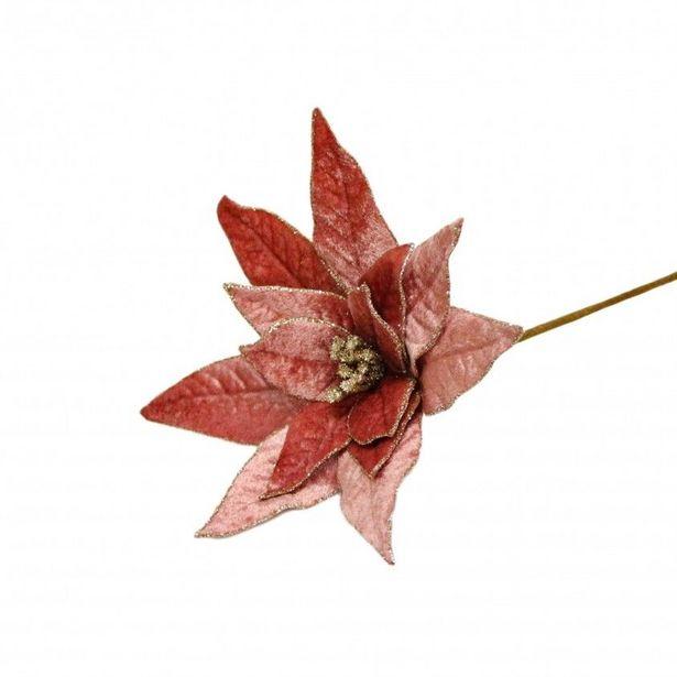 Oferta de Flor Artificial Poinsétia por 4,99€