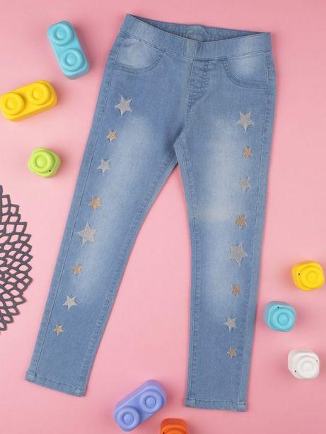 """Oferta de Calça jeans menina """"estrelas"""" azul - Prénatal por 16,09€"""