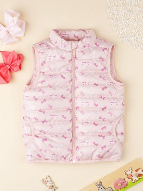 Oferta de Casaco feminino rosa sem mangas - Prénatal por 11,49€