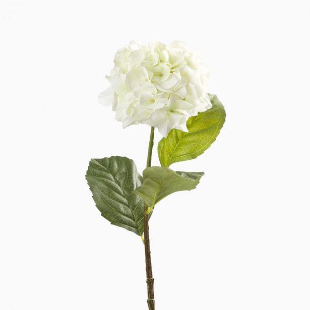 Oferta de Flor Artificial HORTÊNSIA Branca 85cm por 4,89€