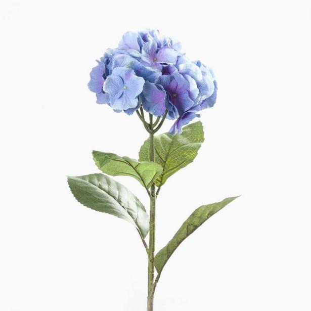 Oferta de Flor Artificial HORTÊNSIA Azul 93cm por 6,29€