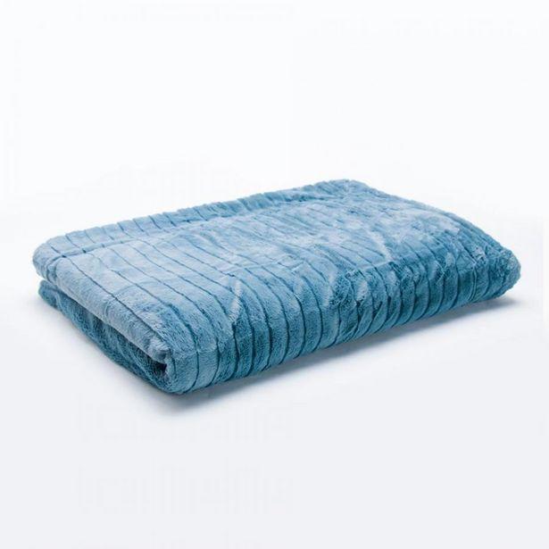Oferta de Manta SHAGGY Blue 130x180cm por 39,99€