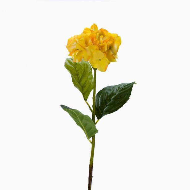 Oferta de Flor Artificial HORTÊNSIA Amarelo 85cm por 4,89€