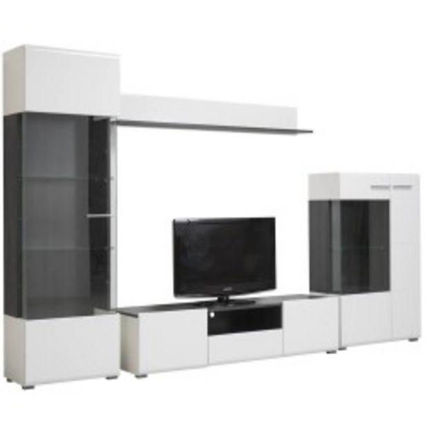 Oferta de Pack Sala de Estar ENZO (Branco e Preto Vulcano) por 349€
