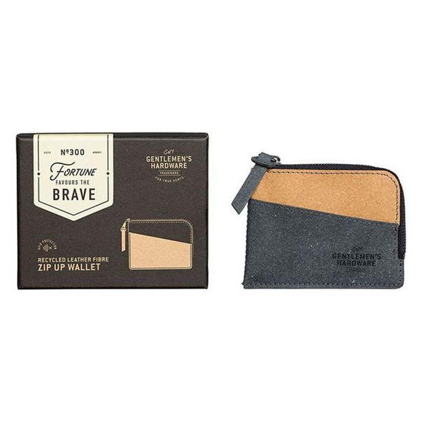 Oferta de Gentlemens Hardware Zip Up Wallet Recycled Leather por 6€