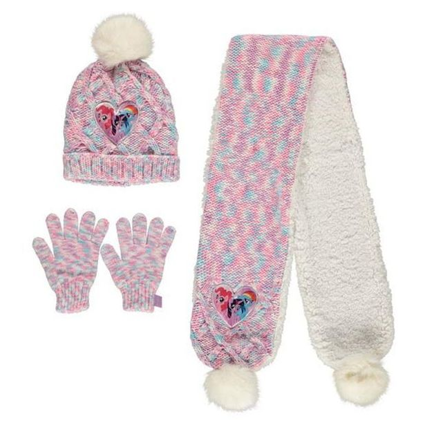 Oferta de My Little Pony Hat Scarf And Gloves Set por 7,8€